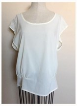 Ladies Poetry Ivory Open Back Blouse Polyester Small S Off White EUC - $3.95
