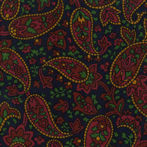 Longaberger Serving Tray Liner ~ Fathers Day Paisley Fabric - Over the Edge - $19.59
