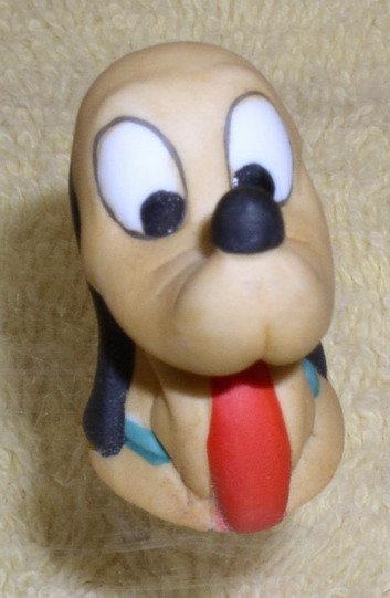 Disney Pluto Porcelain Bisque Thimble rare picutre