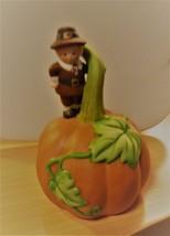 Avon 1990 Porcelain Pumpkin/Pilgrim Bell - $15.83