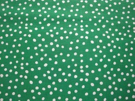 White Polka Dots on Green Background By Choice Fabrics-By The Yard - $8.95