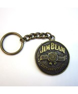 Vintage Jim Beam Whiskey 200th Anniversary 1795 - 1995 Metal Keychain - $7.99
