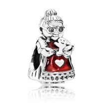 925 Sterling Silver Mrs Santa Claus Christmas Winter Charm Bead QJCB1051 - $22.99