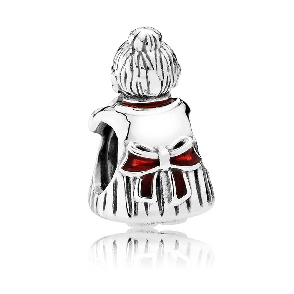 925 Sterling Silver Mrs Santa Claus Christmas Winter Charm Bead QJCB1051