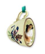 COLLIE DOG ORNAMENT tea cup Christmas dog ornament holiday gift for dog ... - £9.72 GBP