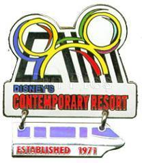 Disney WDW Contemporary Monorai Dangle Resort pin/pins