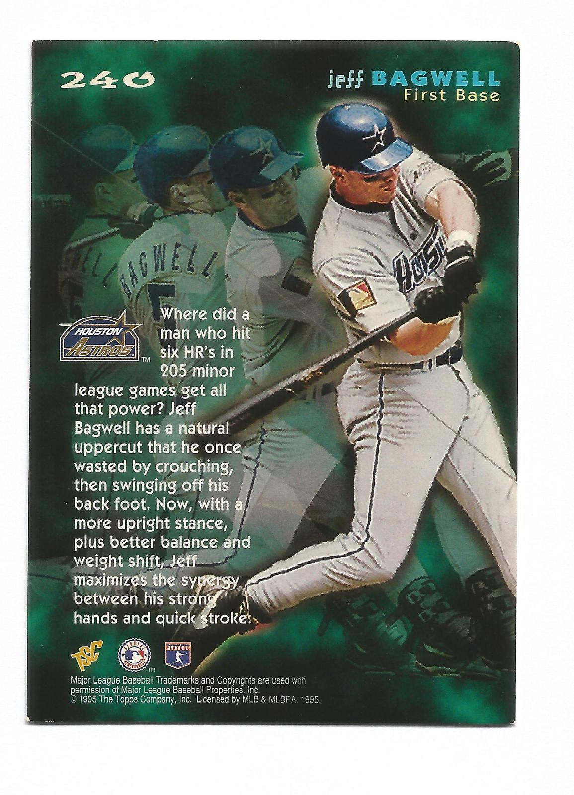 Jeff Bagwell 1995 Topps Stadium Club Card #240 Houston Astros Free Shipping