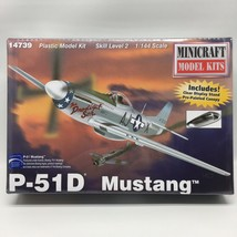 Minicraft P-51D Mustang W/ Stand & Canopy 1/144 Plastic Model Plane Kit 14739 - $19.99