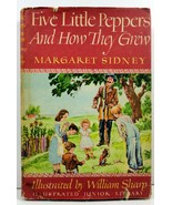 Five Little Peppers And How They Grew Margaret Sidney HC/DJ - $4.99