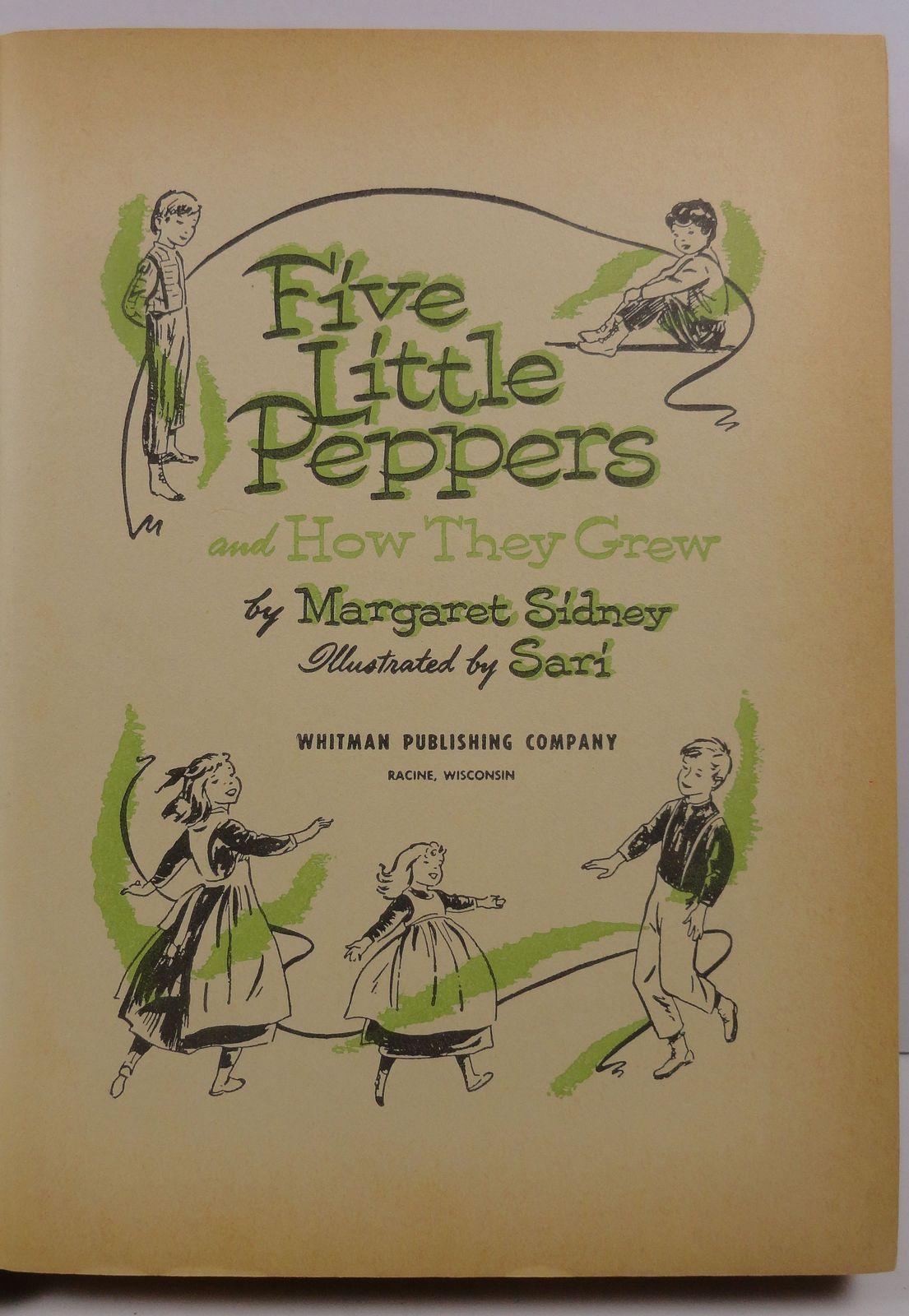 Five Little Peppers Margaret Sidney 1955 Whitman 1609