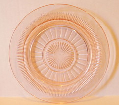 Anchor Hocking Pink Coronation Plate Saxon Saucer Depression Glass - $9.85