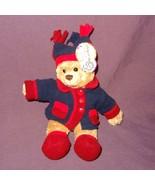 """March of Dimes Teddy Bear Jacket Bean Bag Plush Stuffed Animal Toy 2006 9"""" - $10.78"""