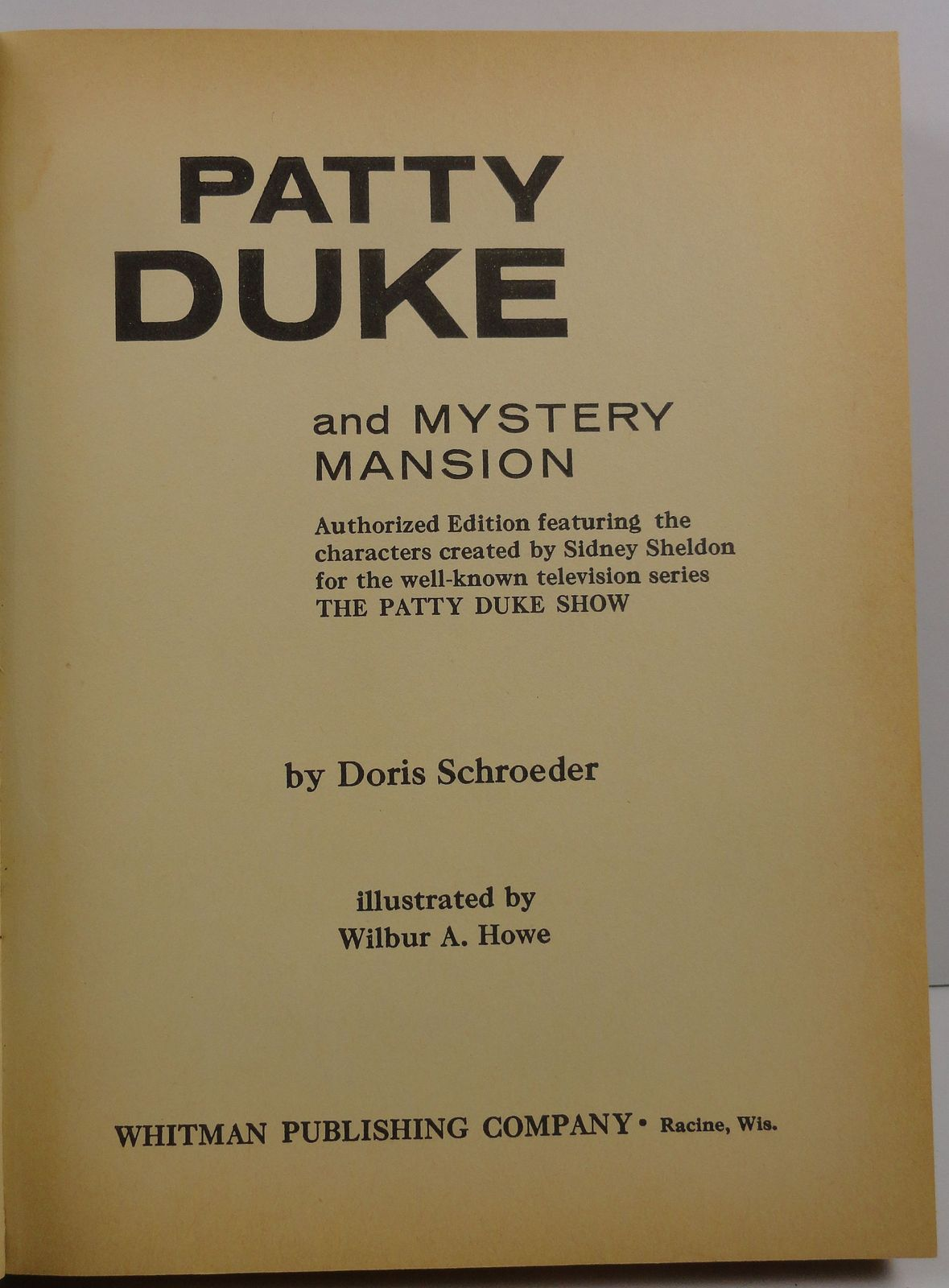 Patty Duke and Mystery Mansion Doris Schroeder 1964 Whitman
