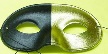 Mardi Gras Mask Half Gold and Half Black Eye mask