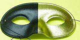 Mardi Gras Mask Half Gold and Half Black Eye mask - $4.00