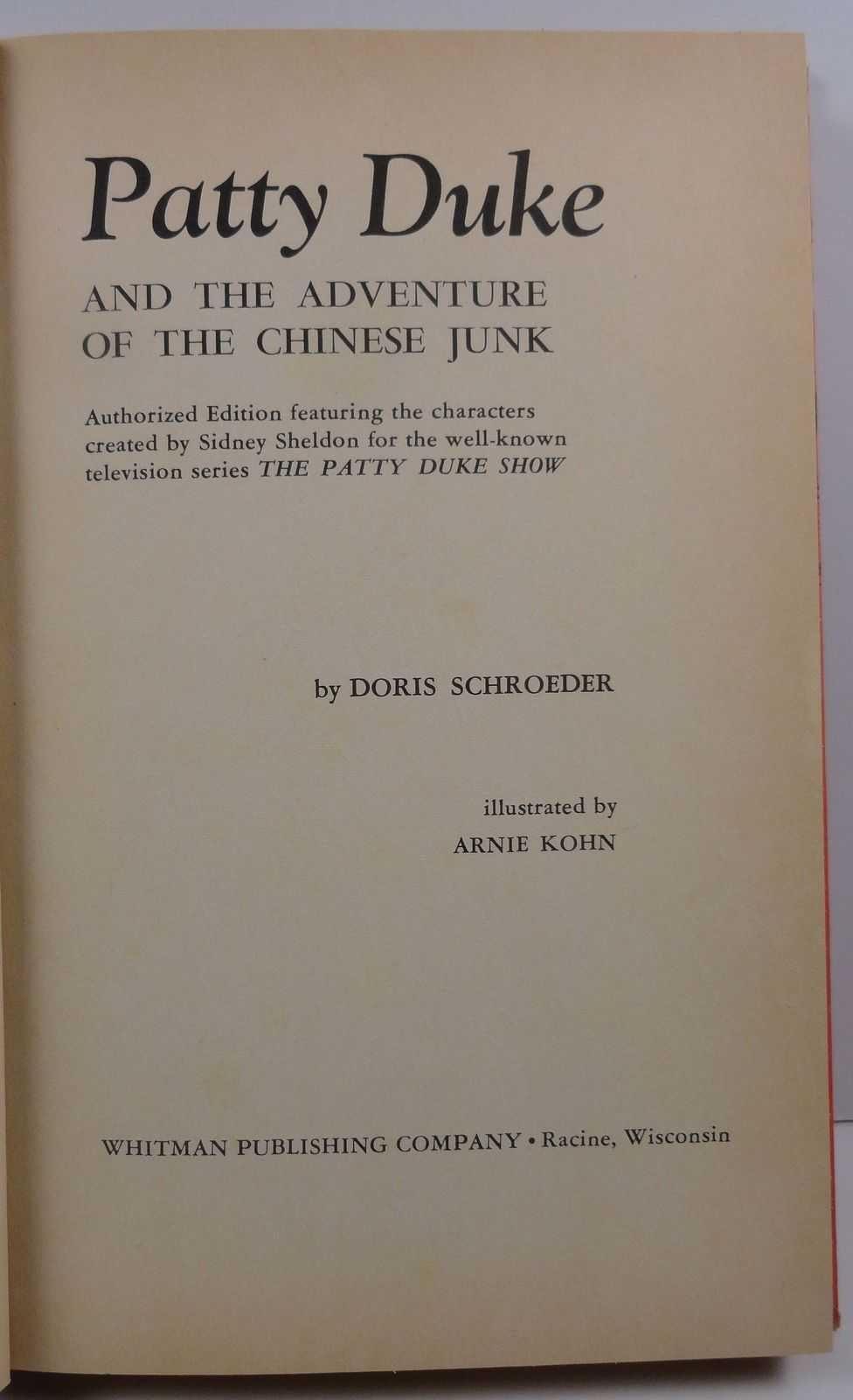 Patty Duke Adventure of the Chinese Junk Doris Schroeder