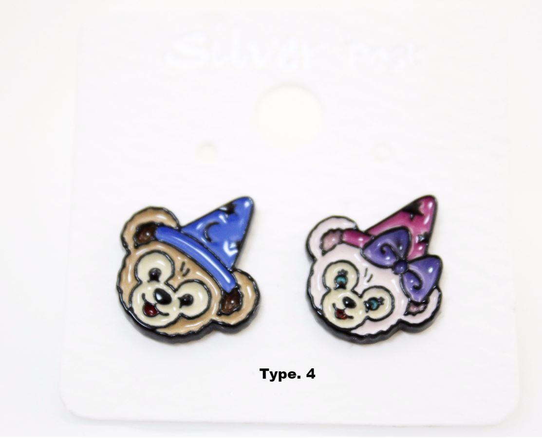 DUFFY DISNEY BEAR Stud Earrings,Duffy bear Earrings,DISNEY bear Cartoon Earrings