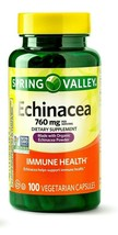 Spring Valley Echinacea Capsules Immune Health Support 760 Mg 100 Ct EXP... - $7.36