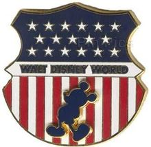 Disney WDW - Mickey Flag Shield USA patriotic pin/pins - $18.39