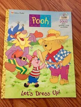 Winnie the Pooh Paper Dolls Book, Punch Out Mobile + 3 Dolls, Golden Bo... - $7.99