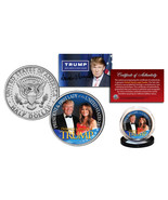 DONALD TRUMP & MELANIA TRUMP PRESIDENT & FIRST LADY 2016 JFK HALF DOLLAR... - $12.99