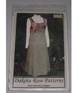 Dakoto Rose Patterns Womens Patchwork Jumper Sizes 8-18 #DR-9710 NEW Uncut - $9.89