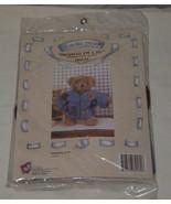 """Treasured Toggery Teddy Bear Felt Jacket Season of Life #82170 12"""" Bear NEW - $8.90"""