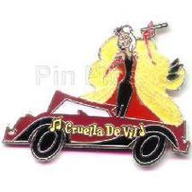 Disney Cruella De Vil and her maroon car pin/pins - $18.39