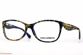 Dolce & Gabbana Women's Eyeglasses D&G 3174 2750 Blue Gold Rectangle Fra... - $115.43