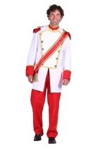 Deluxe Prince Charming Costume , S - XL Royal / King  - $93.00