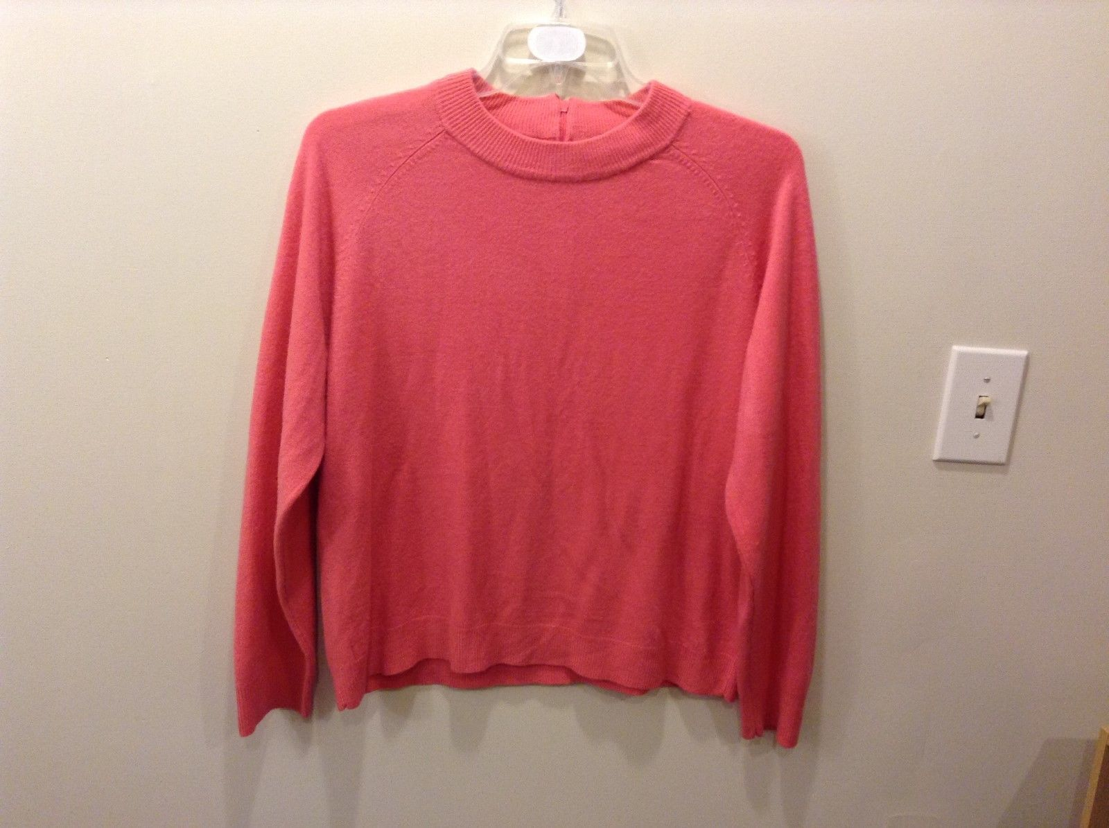 Pretty White Stag Big Plain Pink Long Sleeve Sweater