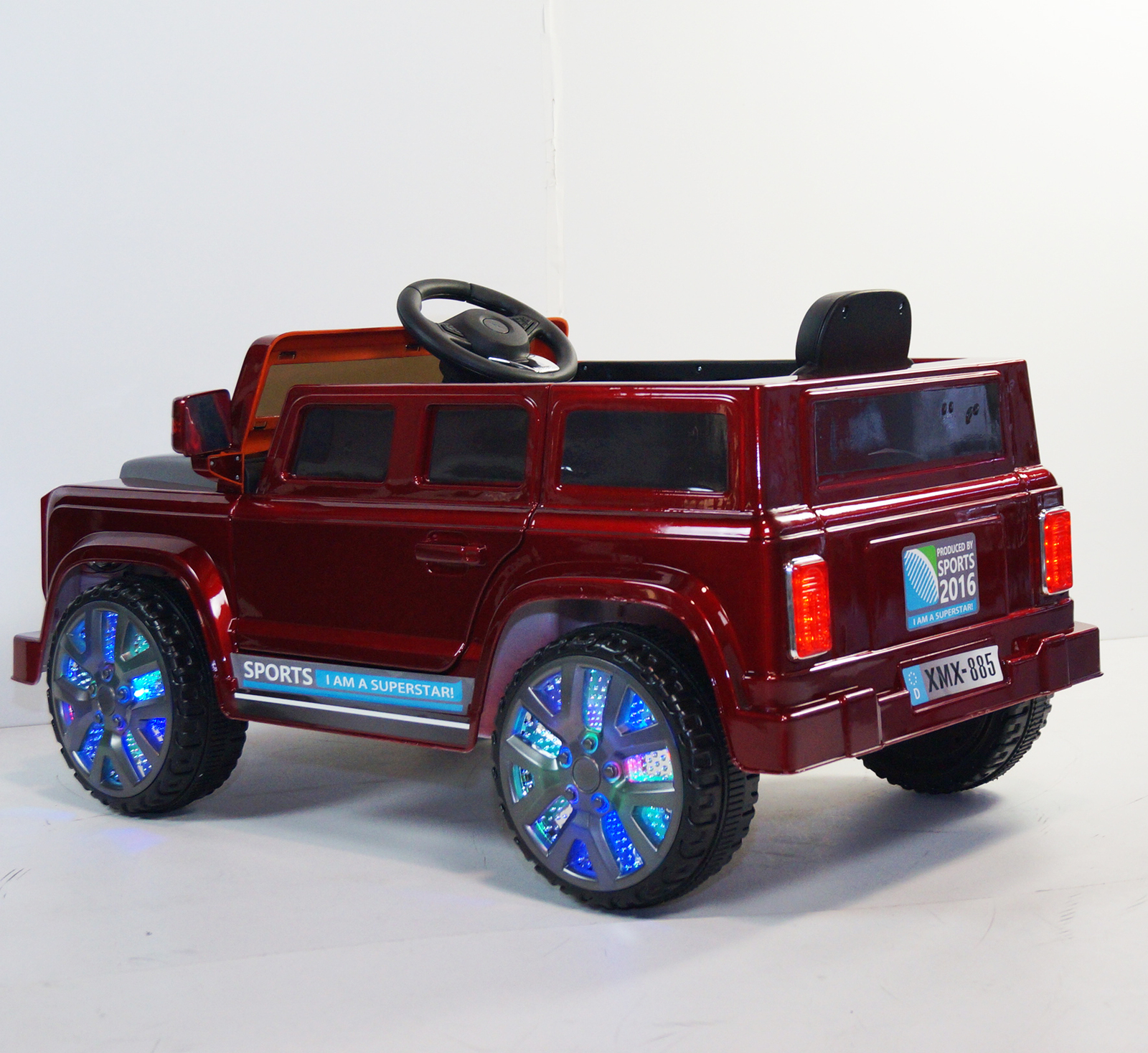 led wheel edition kids land rover defender style kids ride. Black Bedroom Furniture Sets. Home Design Ideas