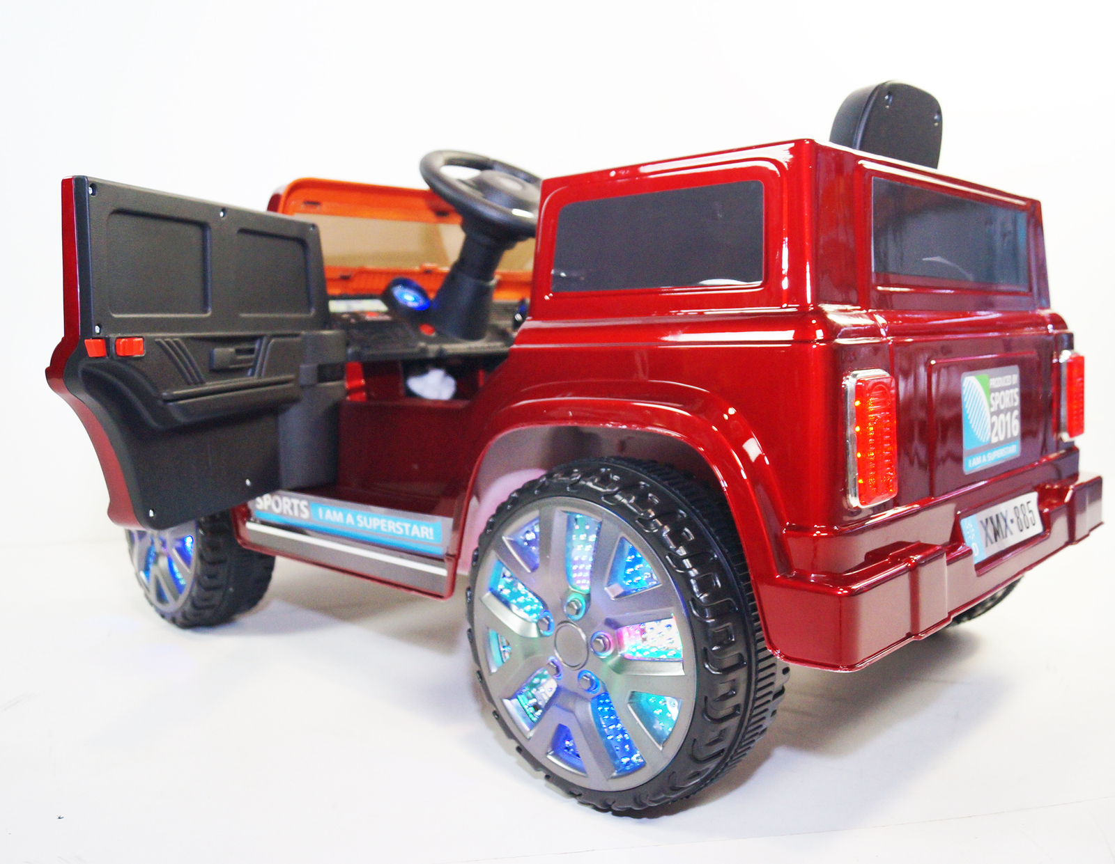 LED Wheel Edition Kids Land Rover Defender Style Kids Ride