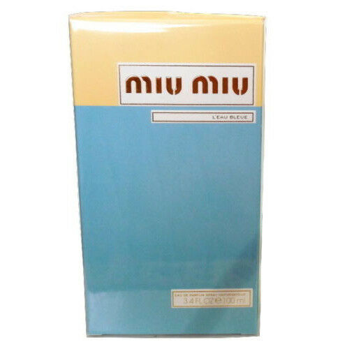 SEALED MIU MIU L'eau Bleue for Women Eau De Parfum Spray 100 ml 3.4 FlOz EDP NIB