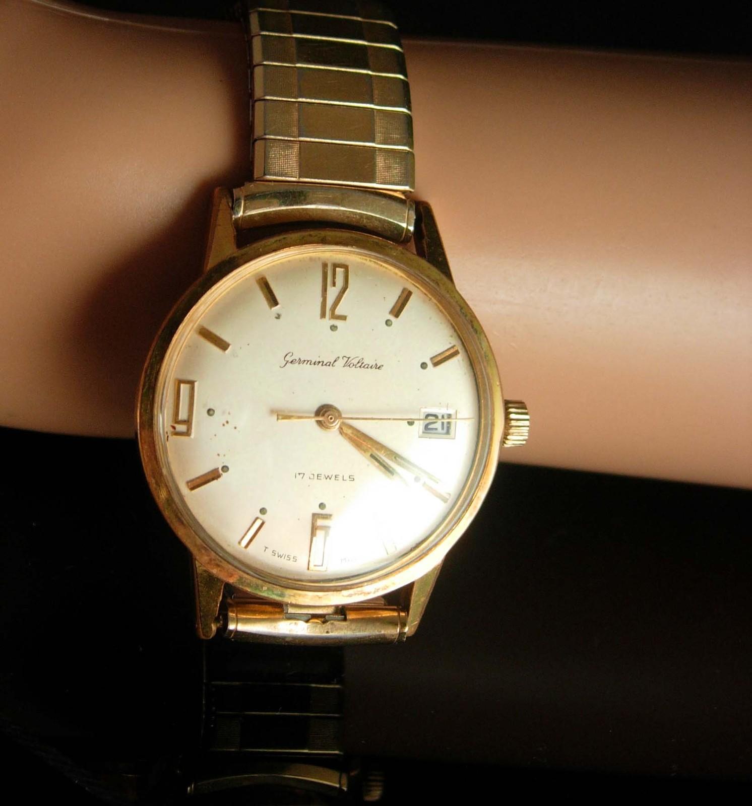 Vintage watch Germinal Voltaire 17 Jewel mens watch swiss watch manual Wind Mens