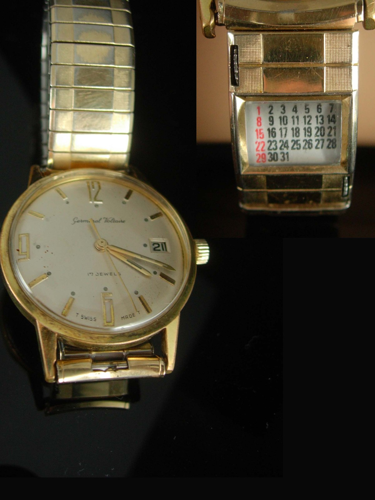 Vintage watch Germinal Voltaire 17 Jewel mens watch swiss watch manual Wind Mens image 2