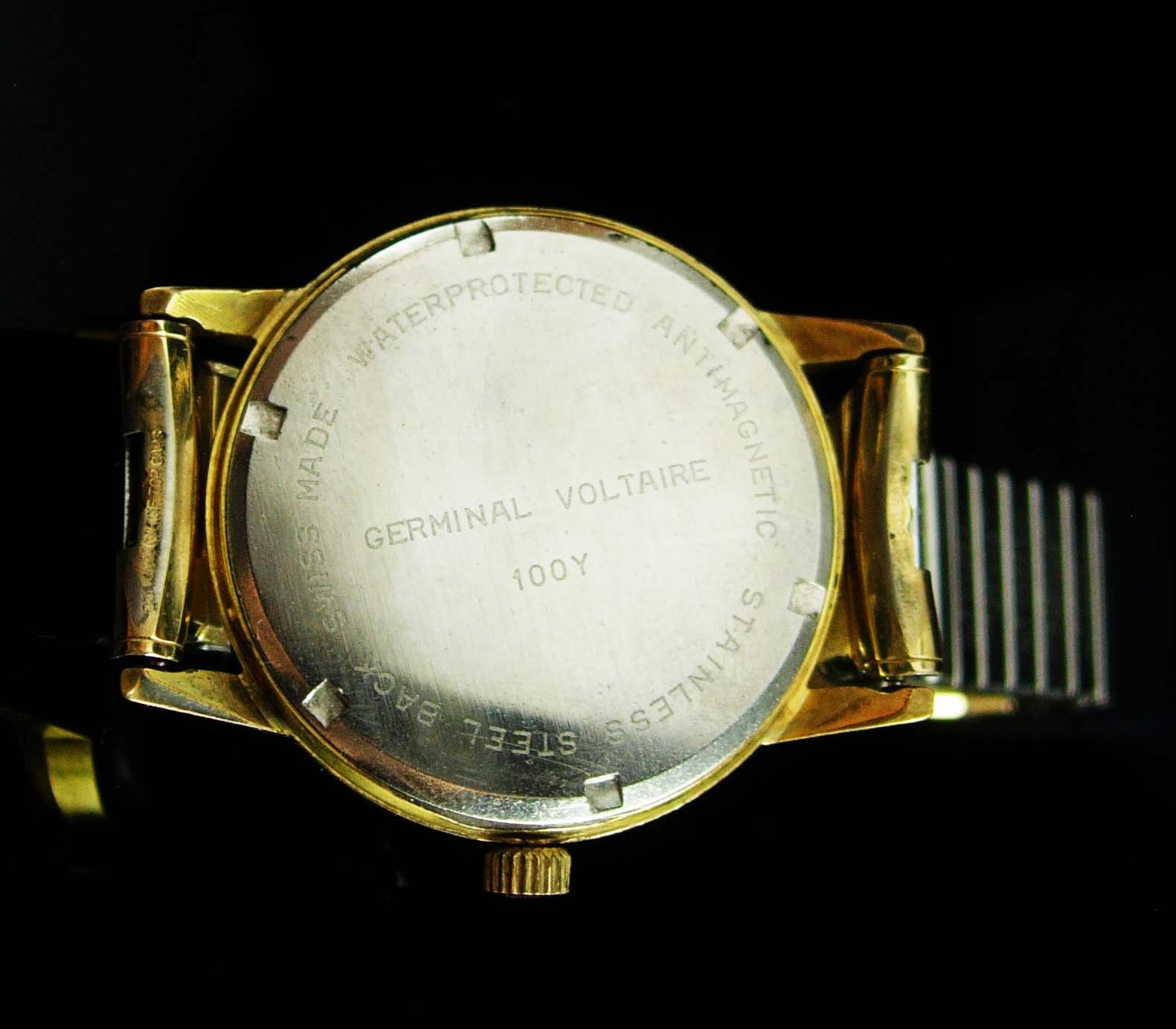 Vintage watch Germinal Voltaire 17 Jewel mens watch swiss watch manual Wind Mens image 3