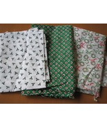 Fabric Pieces, Christmas Theme - Cotton, PolyCo... - $7.96