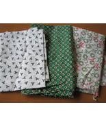 Fabric Pieces, Christmas Theme - Cotton, PolyCotton, 3 pcs. Small Prints... - $7.96