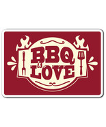 BBQ LOVE Novelty Sign summer food party grill b... - $7.90