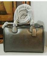 NWT COACH METALLIC CROSSGRAIN MINI BENNETT SATC... - $185.99