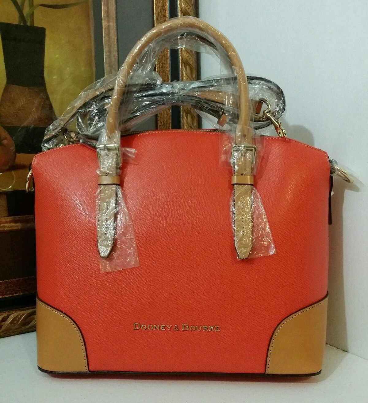 NWT Dooney & Bourke LF062 GE Claremont Domed Satchel Geranium