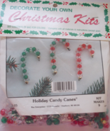 Christmas Candy Cane Ornaments Kit Makes Nine O... - $4.95