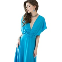 Blue Sexy Women Convertible Wrap Maxi Dress - $29.95+