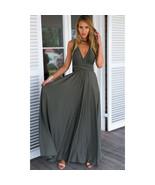 Dark Gray Sexy Women Convertible Wrap Maxi Dress - $39.95+