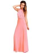 Pink Sexy Women Convertible Wrap Maxi Dress - $39.95+