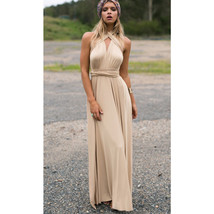 Khaki Sexy Women Convertible Wrap Maxi Dress - $39.95+