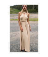 Khaki Sexy Women Convertible Wrap Maxi Dress - $39.95+