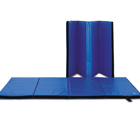 Deluxe Grappling Judo Jiu Jitsu MMA 4-panel Accordian Gym Floor Mat 5'x10' BLUE