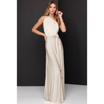 Cream Sexy Women Convertible Wrap Maxi Dress - $29.95+